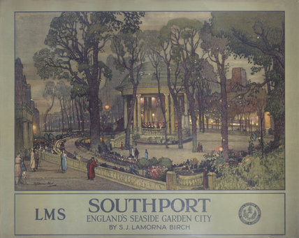 'Southport, England's Seaside Garden City', LMS poster, 1923-1947.