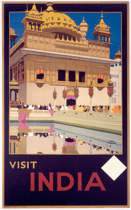 Visit India', Indian State Railways poster.
