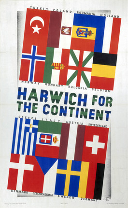 'Harwich for the Continent', LNER poster, 1923- 1947.