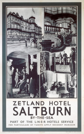 'Zetland Hotel, Saltburn-by-the-Sea', LNER poster, c 1930s.