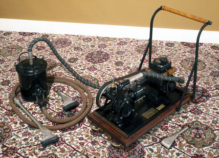 Trolley vacuum cleaner, c 1906.