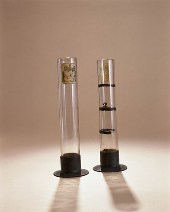 Two specific gravity jars, 1752.