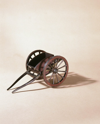 Tipping cart, c 1750.