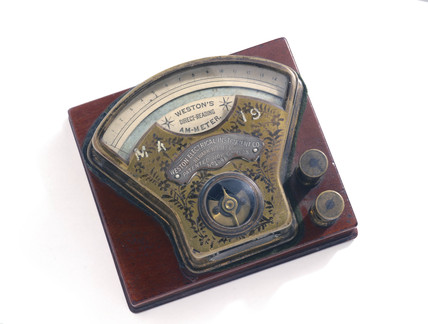 Direct-reading ammeter, 1900.