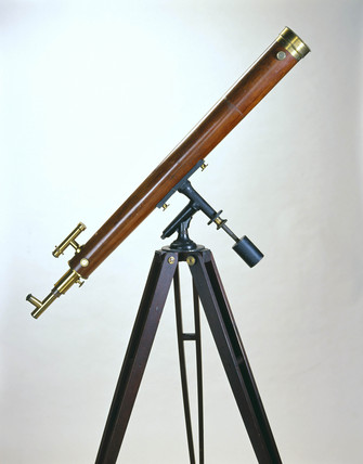 Refracting telescope, 1870-80.