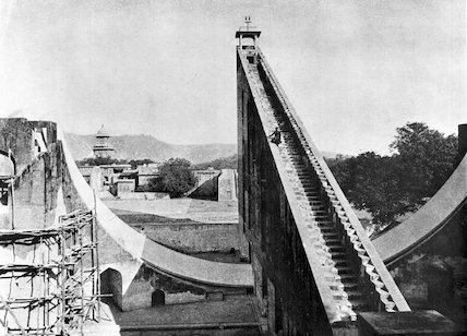 Samrat Yantra at Jaipur Observatory, India, 1915.