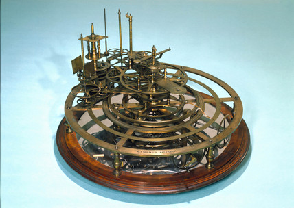 Gear work mechanism of an uncompleted orrery, 1762-1800.