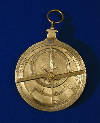 Bras planispheric astrolabe with Gothic script, 1495-1505.