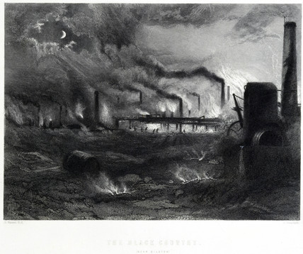 'The Black Country' near Bilston, 1869.