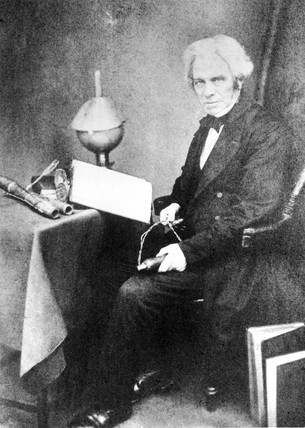 Michael Faraday, English physicist. c 1855.