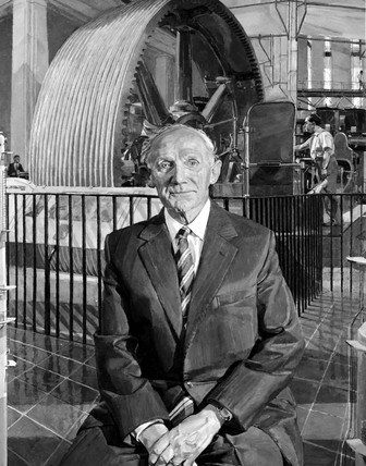 Sir Austin Pearce, Chairman of Board of Trustees, Science Museum, 1990.