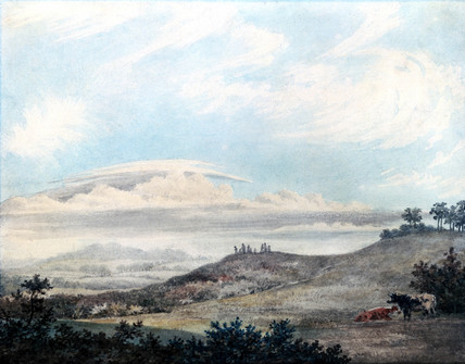 Rural landscape and cloud study by Luke Howard, c 1808-1811.