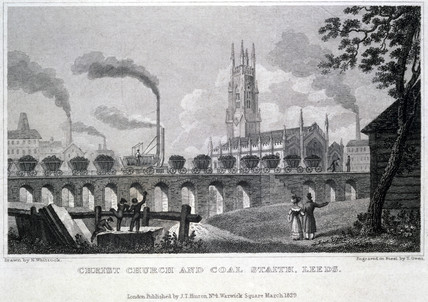 'Christ Church and Coal Staith, Leeds', 1829.