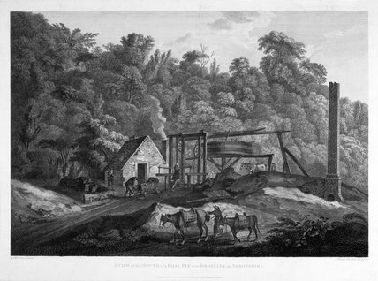 'A View of the Mouth of a Coal Pit near Broseley in Shropshire', 1788.