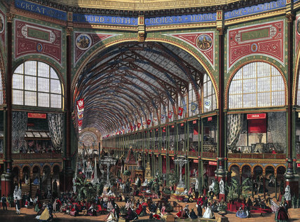 'The International Exhibition - The Nave (Looking  West)', 1862.