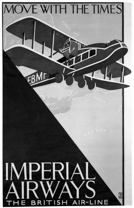 Imperial Airways poster, c 1924.