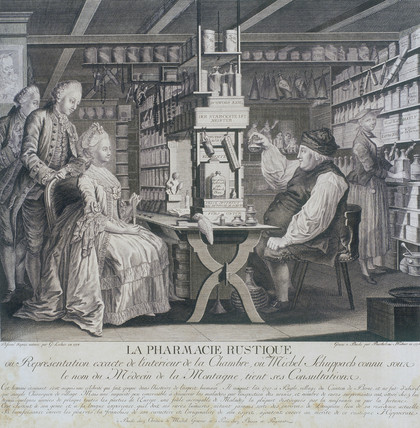 The Country Pharmacy, c 1773.