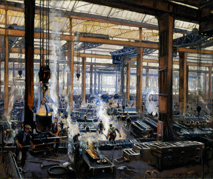 'Industrial Workshop (a steel works)', 1910.