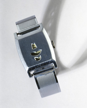 Mechanical digital wristwatch, c 1932.