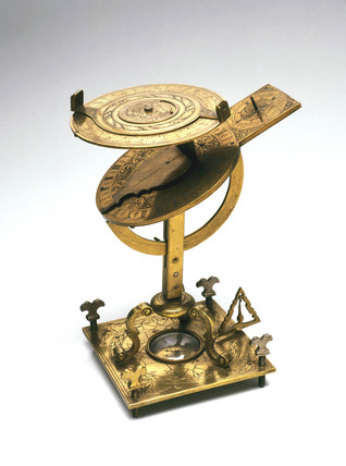 Torquetum-type sundial, English, late 17th century.