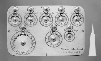 Morland's calculating machine, engraved