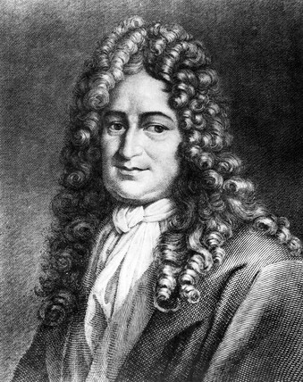 Gottfried Leibniz, German mathematician and philosopher, c 1700.