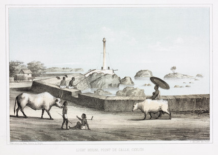 'Light House, Point de Galle, Ceylon', 1853.