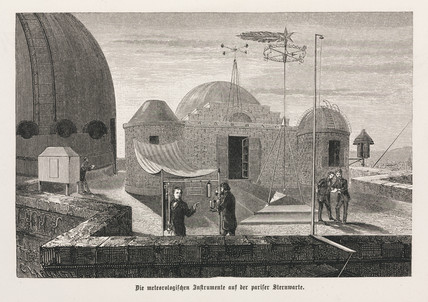 The meteorological instruments at the Paris Observatory, 1875.