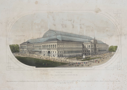 Palais de l'Industrie, Exposition Universelle, Paris, 1855.