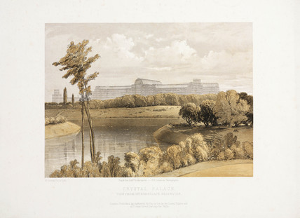 The Crystal Palace from the Intermediate Reservoir, c 1855.