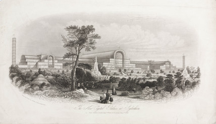 'The New Crystal Palace at Sydenham', 1854.