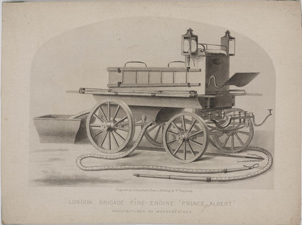 London Brigade fire engine 'Prince Albert',  c 1880.