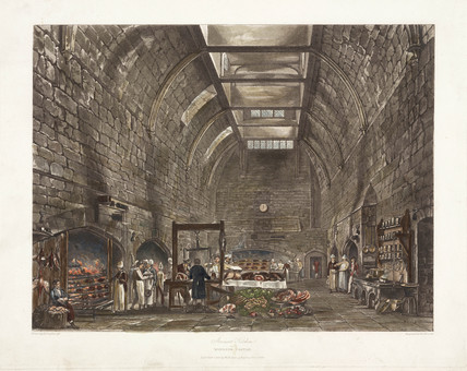 'Ancient Kitchen Windsor Castle', early 19th century.