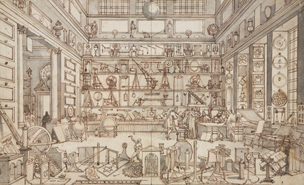 'The Physical Laboratory of the Academie des Sciences', Paris, c 1700.