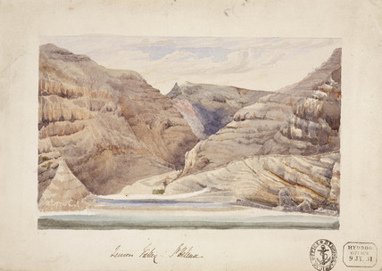 Rock formations at Lemon Valley, St Helena, South Atlantic, 12 January, 1830.