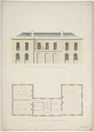 Plans for the Phoenix Gas Company offices at Greenwich, London, 1827.
