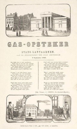 'The Gas-Lamp Lighter', poster, 1867.