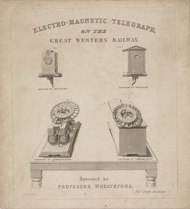 Electro-Magnetic Telegraph on the Great Western Railway, c 1840.