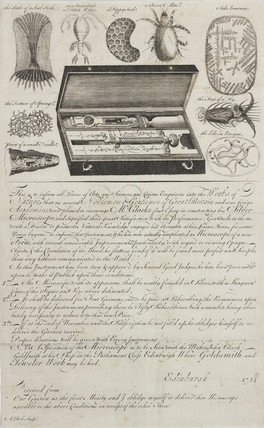 A letter approving John Clark's silver microscope, 18th century.