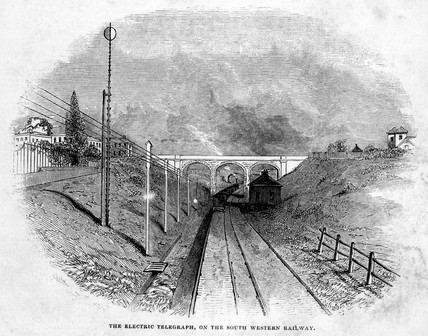 The Electrical Telegraph on the South Western Railway, 1845.