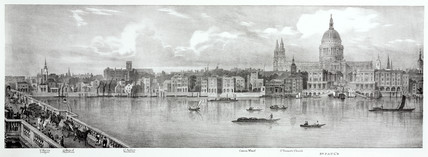 From St Martin Ludgate to St Paul's Cathedral, London, 1825.