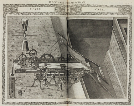 Machine for bridging a moat and scaling walls, 1588.