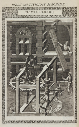 Machine for lifting any great weight and moving it to another place, 1588.