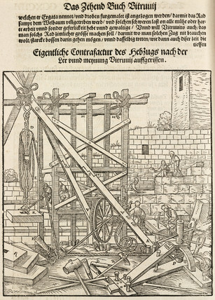 Equipment and tools for constructing stone walls, 1548.