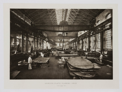 'Armour Plate Planing Shop', 1902.