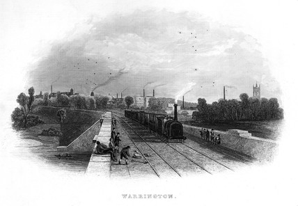 The Warrington Viaduct, c 1839.