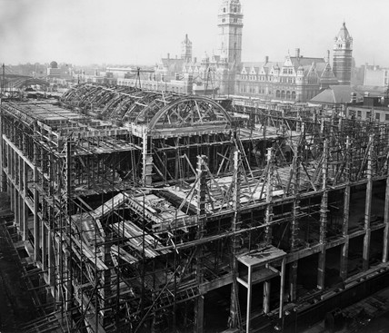 Construction of the East Block, Science Museum, London, 15 November 1916.