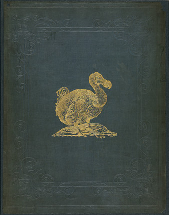 Gold embossed cover of 'The Dodo and its Kindred', 1848.