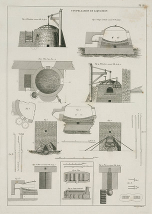Furnaces for cupellation and liquation of metal ores, 1819.