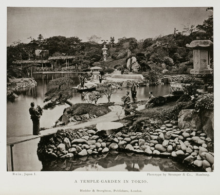 'A Temple-Garden in Tokio', Japan, c 1874-1875.